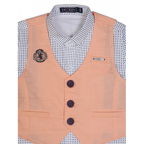 Waistcoat-NJK2999-Peach