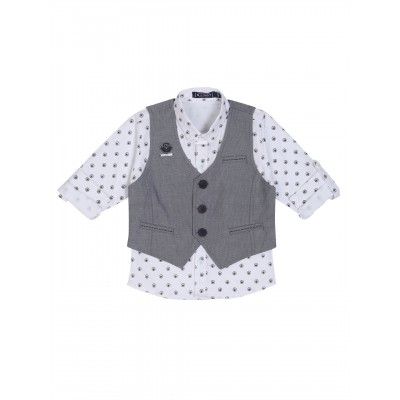 Waistcoat-NJK3003-Black