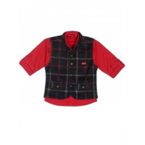 Waistcoat-NJK3005-Red
